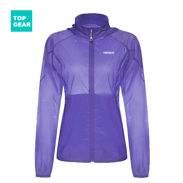 Women's purple lightweight quick dry UV protection jacket