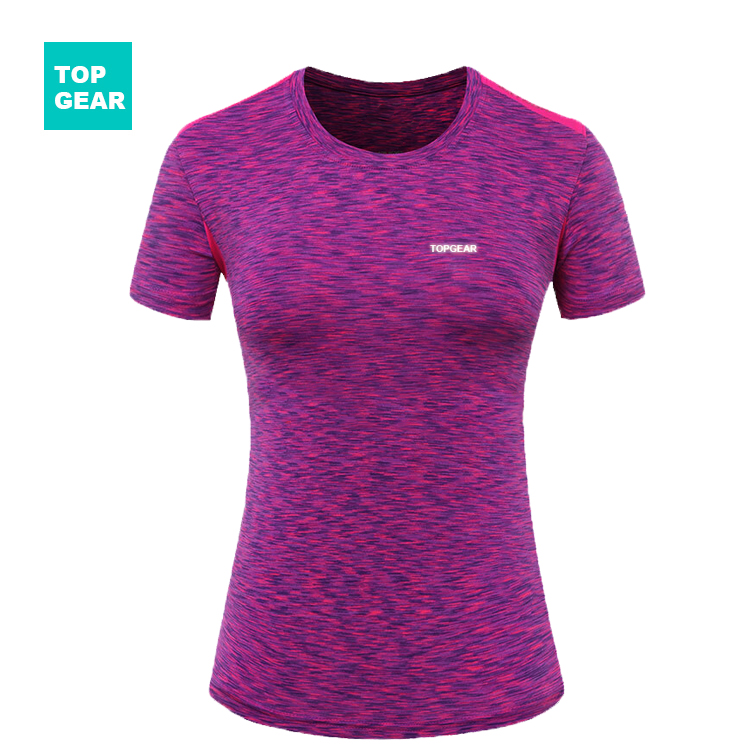 Women's colorful running t-shirt day or night use
